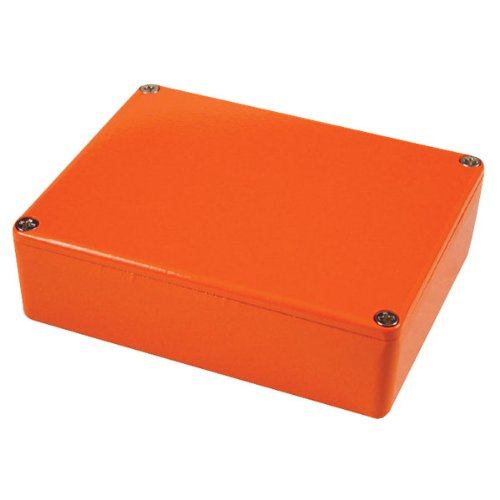 1590xxor Painted Aluminium 'stomp Box' Enclosure 145 X 121 X 39 Orange Hammond