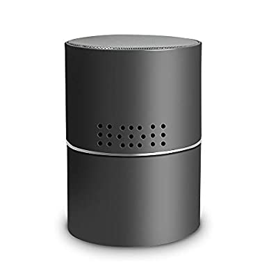 RecorderGear BT500W 1080P WiFi Hidden Nanny Spy Camera Bluetooth Speaker with 330° Rotating Lens, Wireless Home Security Cam, Motion Activated, Wall and Battery Powered, App Control & Remote Viewing