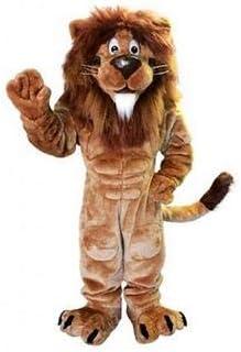 Plush Lion Mascot Costume