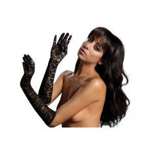 Seven Til Midnight Women's Elbow Length Lace Gloves, Black, One Size (Plus Black Gloves)