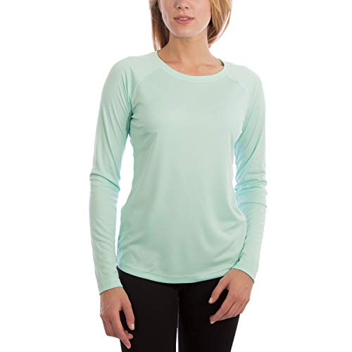 Vapor Apparel Women's UPF 50+ UV Sun Protection Performance Long Sleeve T-Shirt Medium Seagrass