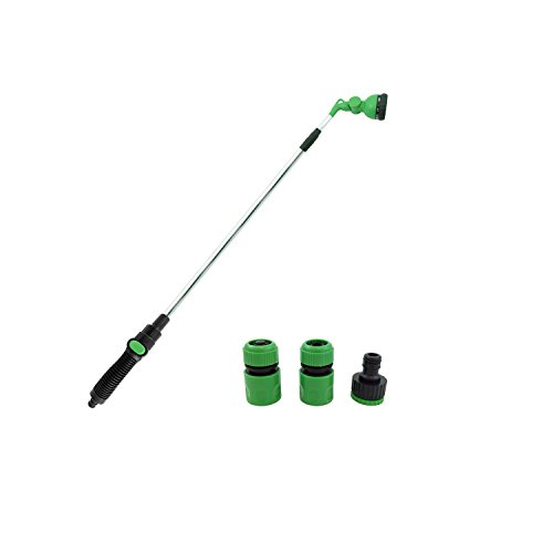 Water Stop Hose Connector - Hongville Garden Tools 8-Pattern ON/OFF Switch Telescopic Watering Wand Set w/1/2 & 3/4