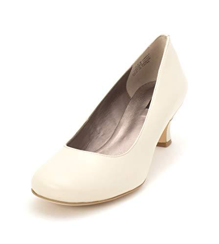 (ARRAY Womens Flatter Leather Round Toe Classic Pumps, Bone, Size)
