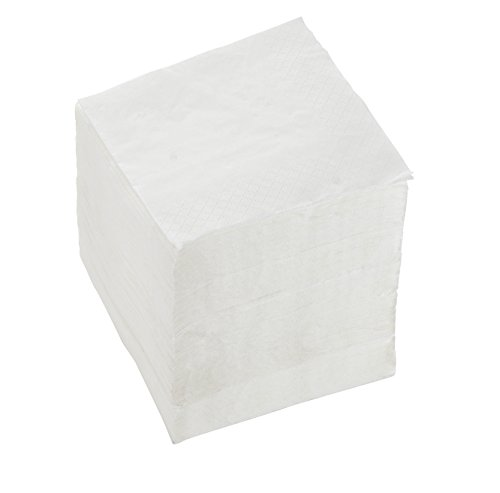 250-Pack Cocktail Napkins - Plain White 2-Ply Disposable Paper Party Supplies - Soft, Absorbent and Decorative Napkins for Luncheon, Birthday, Anniversary, 5 x 5 Inches Folded