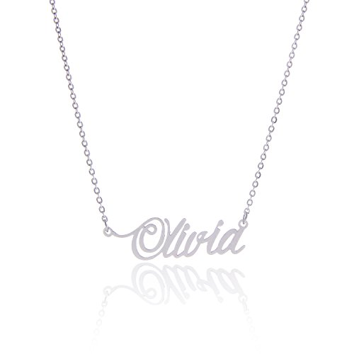 AOLO Stainless Steel Name Necklaces Olivia