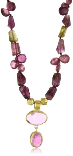 Nava Zahavi Possession Multi-Tourmaline and High Karat Gold Necklace
