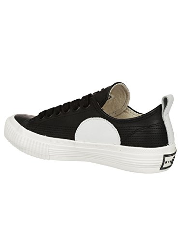 McQ Alexander McQueen Women's 472445R11291006 White/Black Leather Sneakers SWLhuQ92
