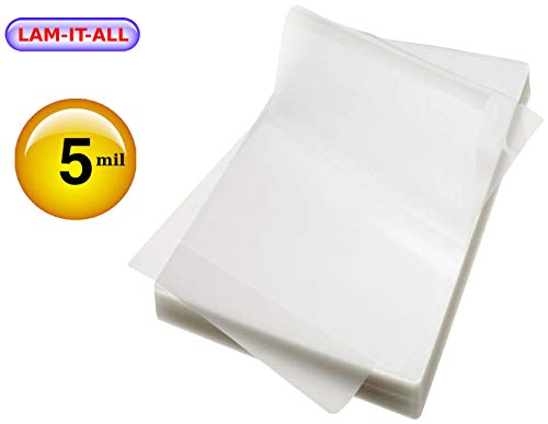 Military Card Laminating Pouches 5 Mil 2-5/8 X 3-7/8 Laminator Sleeves [Pk of 100] by LAM-IT-ALL (Pouches Military Laminating)