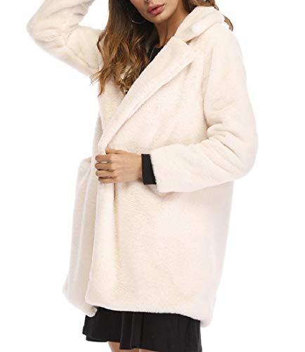 Jacket Winter Outerwear AngelSpace Women's Fleece Beige Lightweight Shearling xZYOU7Y