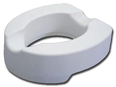Asiento elevable para inodoro con sistema de fijación, altura 14 cm