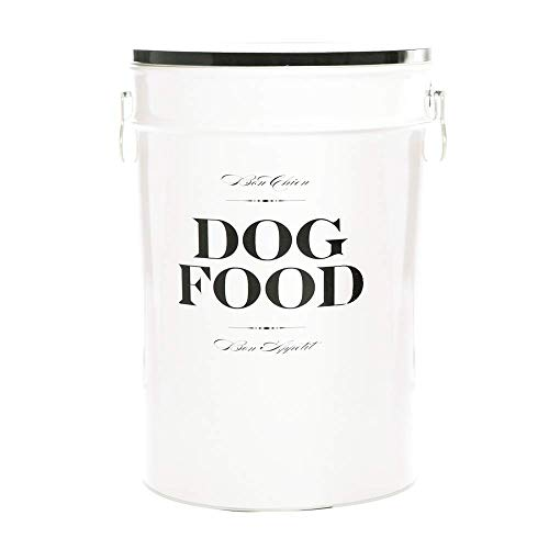 Harry Barker Dog Food Storage Canister - Bon Chien - Black - 40 lb