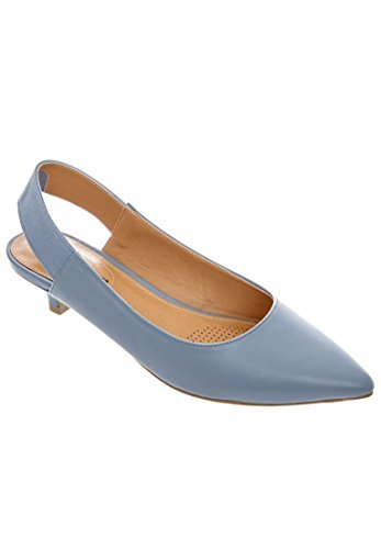 Comfortview Femmes Large Tyler Cuir-fronde Chambray