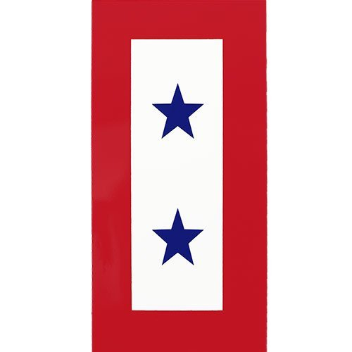 Decal Star Blue Service (Two Blue Star Service Clear Decal)