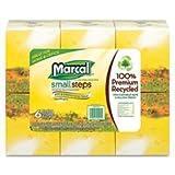 Marcal 4034 Facial Tissue, 2-Ply, 80 Sht/Box, 8-2/5''x8-2/5'', 6/PK, WE
