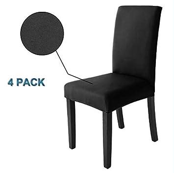 Fundas para sillas Pack de 4 Fundas sillas Comedor, Lavable Extraíble Comedor Asiento de la