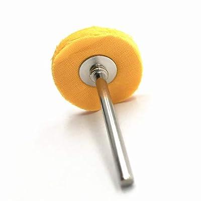 NGe 20Pcs Wool Polishing Buff Wheel Buffing Wheels Rotary Tool Accessories Polish Jewelry Watch 3mm Shank (Orange): Home Improvement