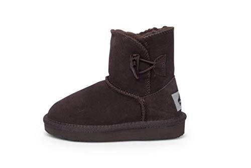 Aussie Wool - Aussie Merino Noosa Kids Wool Lined Boots (Y11, Chocolate)