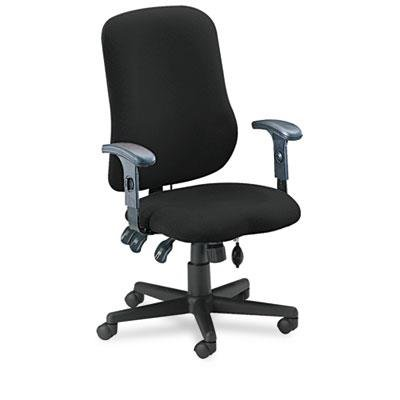 Mayline MLN4019AG2113 Comfort Series Contoured Support Chair Black