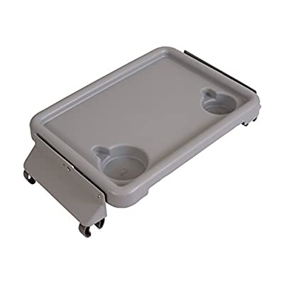 DMI Folding Walker Tray With Cup Holders, Gray