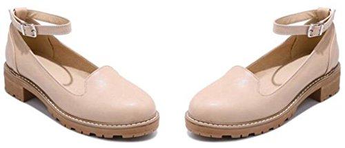 Idifu Womens Vintage Tacco Tacco Piattaforma Mid Tacco Grosso Pumps Scarpe Con Cinturino Alla Caviglia Rosa