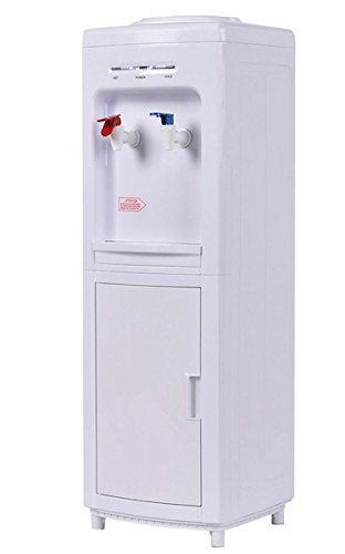 White Electric Water Cooler Dispenser Stand 5 Hot Water Child Lock Home And Office Use Primo Machine Cold And Hot Bottle Load Digital Screen Low Noise Powerful Compressor High Efficient Fast Cooling