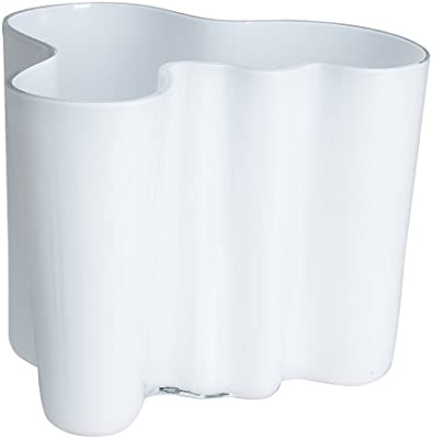 Iittala Aalto 6-1/2-Inch White Glass Vase