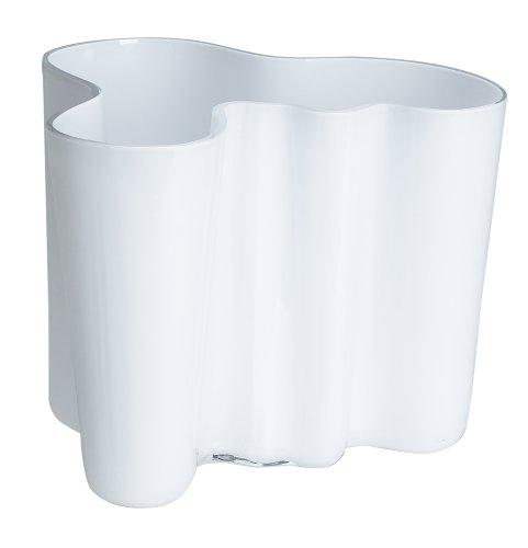 (Iittala Aalto 6-1/2-Inch White Glass Vase)