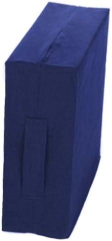 Sitzerhöhung m. RV. u.Griff 40x43x10cm, blau(Kempert), Sitzkissen
