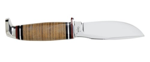 Case Drop Point Hunter with Stacked Leather Handle