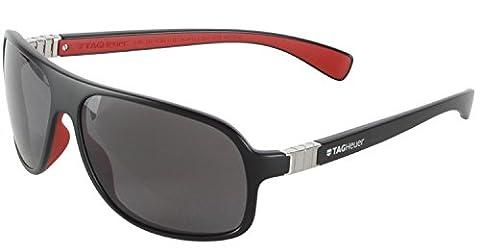 Tag Heuer Legend9303112 Rectangular Sunglasses,Black & Red,62 mm (Tag Heuer Women Black)