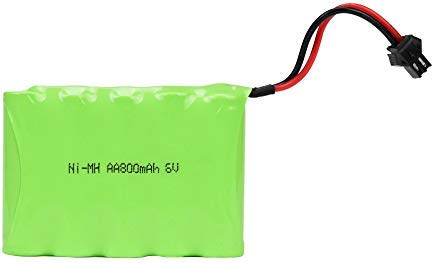 Double E 6V 800mAh RC Car Rechargeable Battery High Capacity Battery Pack for  Remote Control Car
