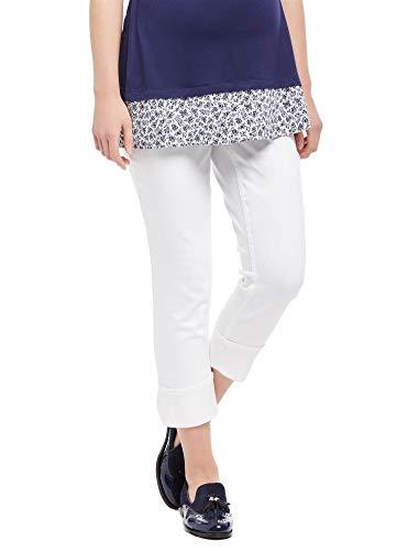 (Motherhood Secret Fit Belly Skinny Leg Maternity Crop Jeans)