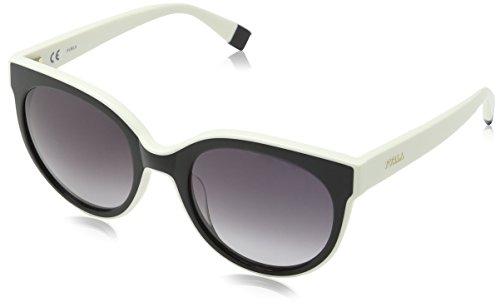 talla brillante única Furla mujeres Sfu070 Eyewear sol crema Gafas de para Anzq78