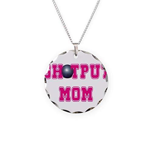 CafePress Shotput Mom Charm Necklace with Round ()