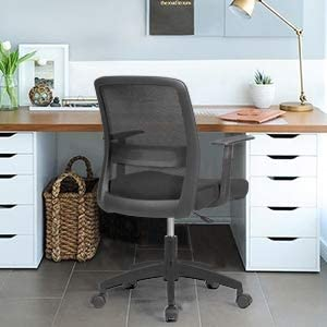 LIANFENG Office Task Desk Chair Ergonomic Home Comfort Mesh Chairs Mid-Back Swivel Lumbar Support Computer Chair