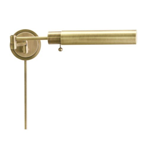 - House Of Troy WS12-71-F Home/Office Collection Cylinder Wall Lamp, Antique Brass