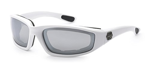 5Zero1 Choppers Rider Matte Motorcyclist Biking Sport Foam Padding Unisex Mirrored Reflective Sunglasses