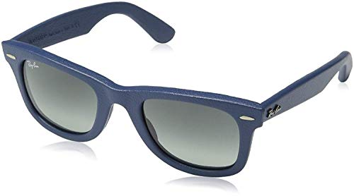 Ray-Ban Unisex RB2140QM 50mm Leather Blue One Size (Billig Ray Ban Style Sonnenbrille)