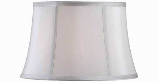 Upgradelights Eggshell Silk 16 Inch Shallow Drum Table or Floor Lampshade Replacement