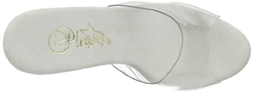 Pleaser Womens Delight-601 Slippers Clear VutPH
