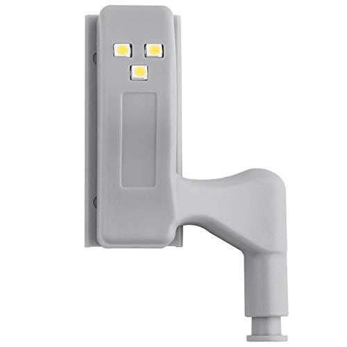 ❤SU&YU❤LED Under Cabinet Light Universal Wardrobe Light Sensor Led Armario Inner Hinge Lamp for Cupboard Closet Kitchen (Warm White)