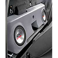 MTX Bass Slammer Unloaded Subwoofer Box for 2 10 Subs for FORD F-250 Regular Cab Pickup 2000-2006 BLACK F250R00BK20U