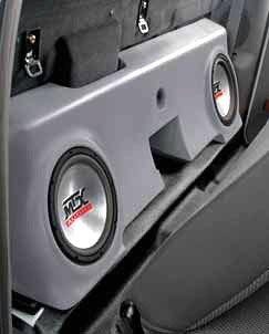 MTX Bass Slammer Unloaded Subwoofer Box for 2 10