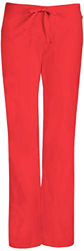 Code Happy Women's Mid-Rise Drawstring Scrub Pant Large Coral ()