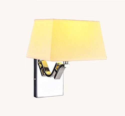 Modern Simple Cloth Cover E27 Button-Type Wall Lamp Living Room Study Bedroom Bedside Lamp (26 20 6Cm) , 2 by DMMSS