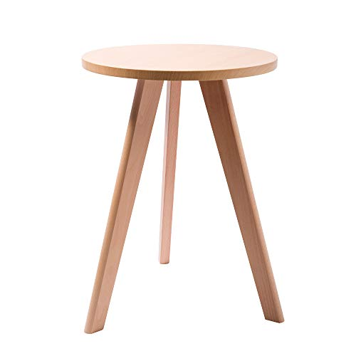 Round Accent End Table,Modern Round Coffee Table | Environmentally Friendly Side Table for Coffee, Books & Plants (19.7 Inch) (3 Legged Round Table)