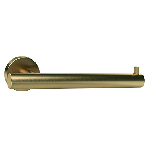 Amerock BH26540BBZ Arrondi Single Post Tissue Roll Holder in Brushed Bronze/Golden Champagne