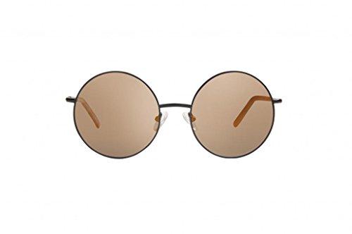 triple graces Women's Ultralight Revo Black Frame Brown Lens Round Sunglasses - Sunglasses Grace