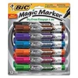 BIC CORPORATION Low Odor And Bold Writing Dry Erase Marker, Chisel Tip, Assorted, Dozen, One random color will be shipped