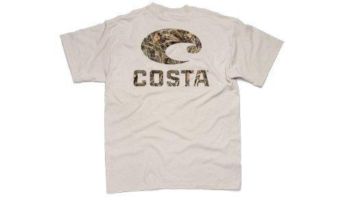 Costa Del Mar Real Tree Max4 Short Sleeve T-Shirt, Camo/Tan, - Through Sunglasses Tan